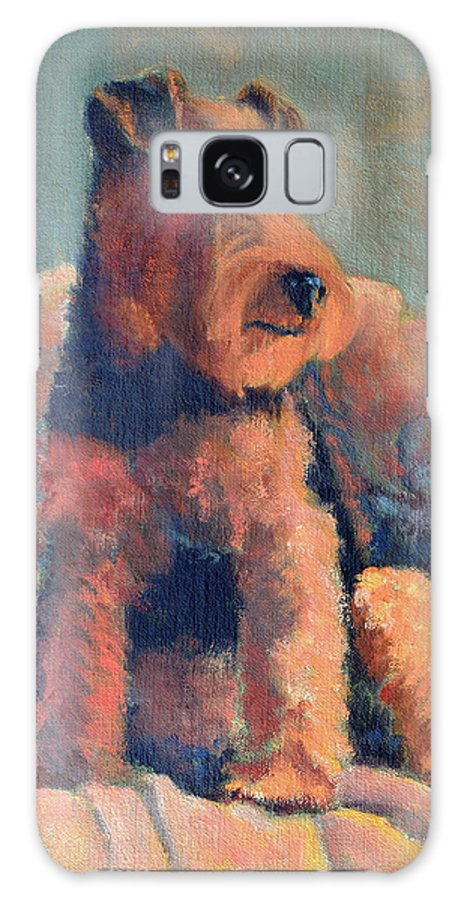 Pet Galaxy Case featuring the painting Zuzu by Keith Burgess