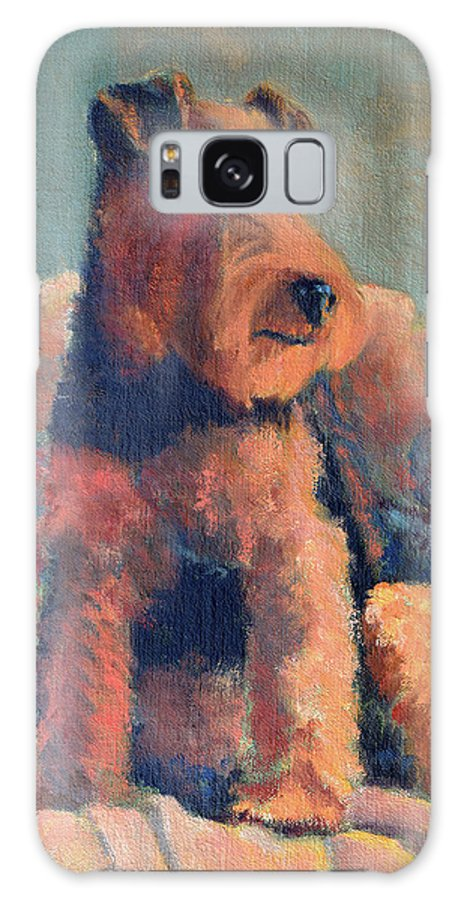 Pet Galaxy S8 Case featuring the painting Zuzu by Keith Burgess