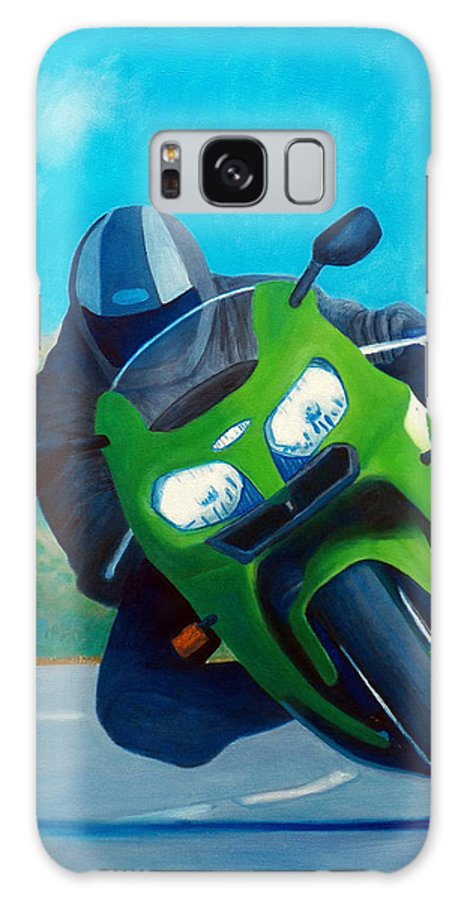 Motorcycle Galaxy S8 Case featuring the painting Zx9 - California Dreaming by Brian Commerford