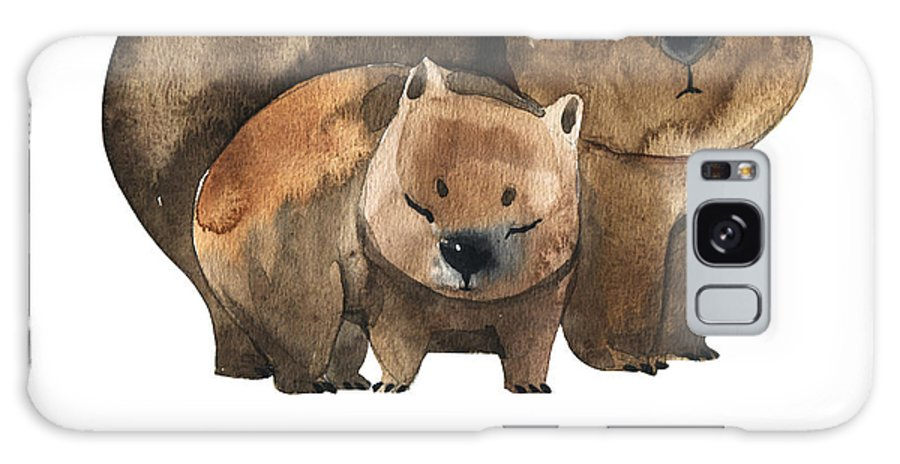 Forest Galaxy Case featuring the digital art Australian Animals Watercolor by Kat branches