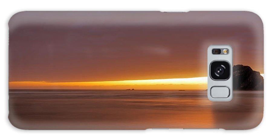 Bandon Beach Galaxy Case featuring the photograph Bandon Beach Sunset 5 by Jim Thompson