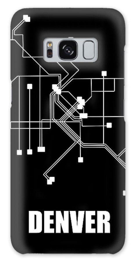 Denver Galaxy S8 Case featuring the digital art Denver Black Subway Map by Naxart Studio