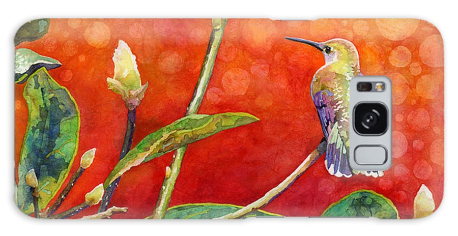 Hummingbird Galaxy S8 Case featuring the painting Dreamy Hummer by Hailey E Herrera