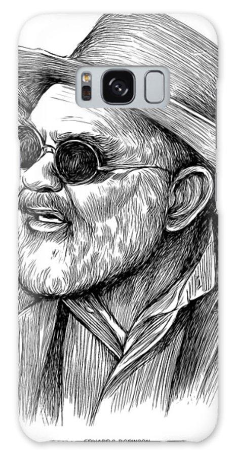 Edward G Robinson Galaxy S8 Case featuring the drawing Edward G Robinson by Greg Joens