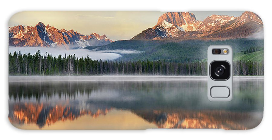 Scenics Galaxy Case featuring the photograph Little Redfish Lake, Sawtooth Mountains by Alan Majchrowicz