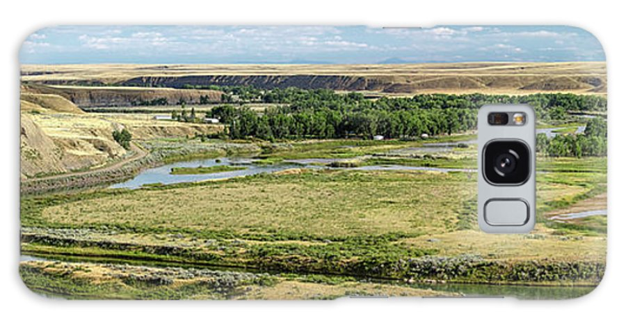 Panorama Galaxy Case featuring the photograph Marias River Valley by Todd Klassy
