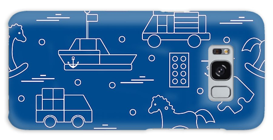 Play Galaxy S8 Case featuring the digital art Vector Illustration Kids Toys Objects by Aquamarine Painter