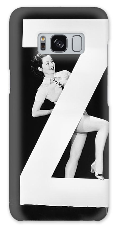 Behind Galaxy S8 Case featuring the photograph Woman With Huge Letter Z by Everett Collection