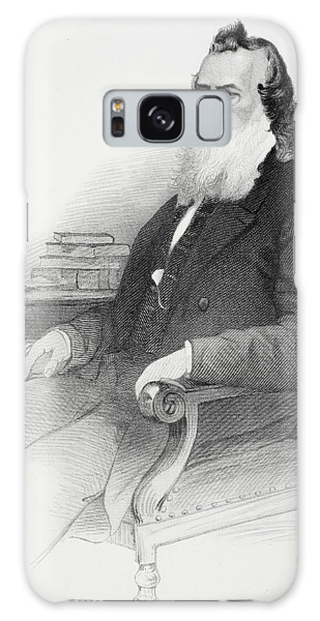 19th Galaxy S8 Case featuring the drawing Gideon Welles. U.s. Secretary Of The Navy Under Presidents Abraham Lincoln And Andrew Johnson by Ken Welsh
