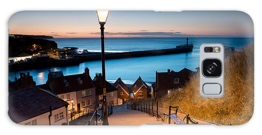 Harbour Galaxy S8 Case featuring the photograph 199 Steps Of Whitby In The North by Stocker1970