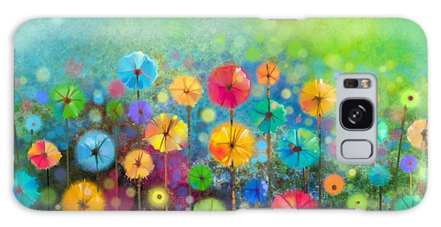 Beauty Galaxy Case featuring the digital art Abstract Floral Watercolor Painting by Pluie r