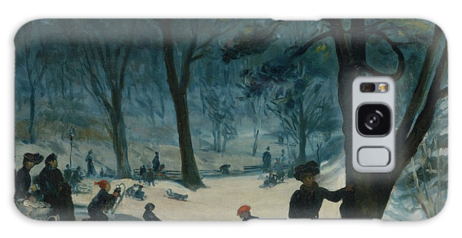 America Galaxy S8 Case featuring the painting Central Park, Winter by William Glackens