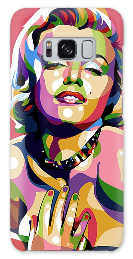 Marilyn Galaxy Case featuring the digital art Marilyn Monroe by Stars on Art