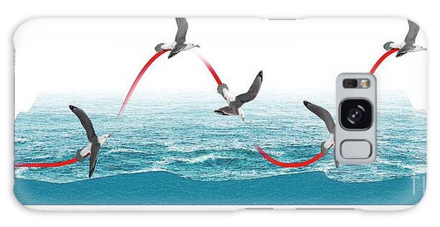 Air Currents Galaxy Case featuring the photograph Albatross Flying Using Dynamic Soaring by Mikkel Juul Jensen/science Photo Library