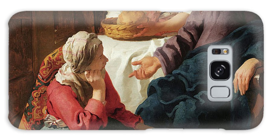 Jan Vermeer Galaxy S8 Case featuring the painting Christ In The House Of Martha And Mary by Jan Vermeer