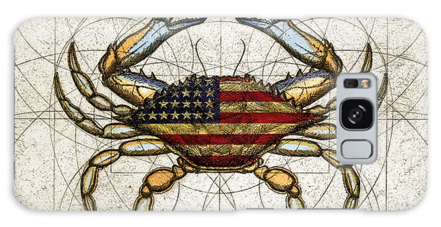 Charles Harden Galaxy S8 Case featuring the mixed media 4th Of July Crab by Charles Harden