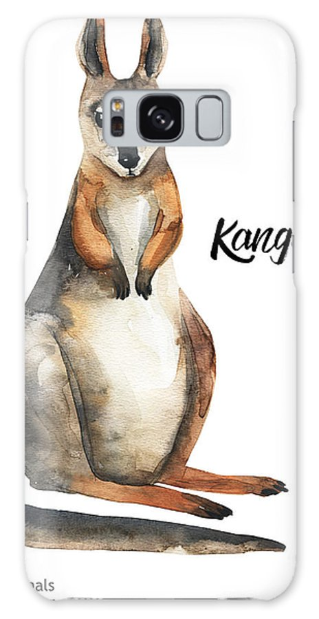 Forest Galaxy S8 Case featuring the digital art Australian Animals Watercolor by Kat branches