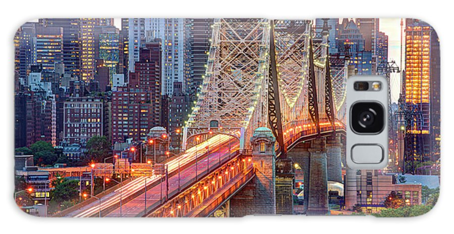 Architectural Column Galaxy Case featuring the photograph 59th Street Bridge by Tony Shi Photography