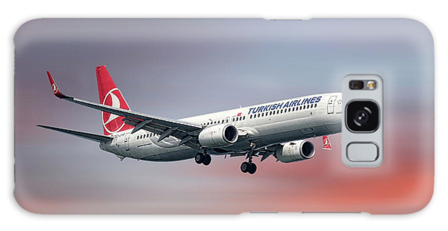 Turkish Galaxy S8 Case featuring the mixed media Turkish Airlines Boeing 737-9f2 by Smart Aviation