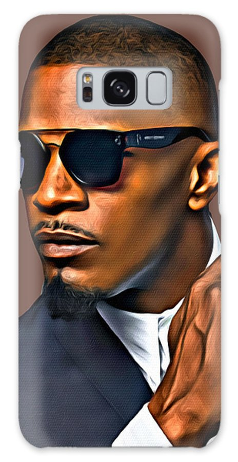 Jamie Foxx Galaxy Case featuring the photograph A Foxx Indeed by Karen Showell