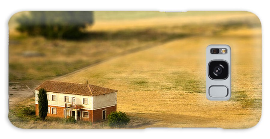Farmhouse Galaxy S8 Case featuring the photograph A Tilt Shifted Country House On A by Ikerlaes