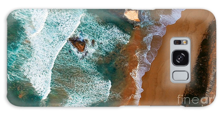 Cliff Galaxy S8 Case featuring the photograph Aerial View Of Twelve Apostles At Dawn by Pisaphotography
