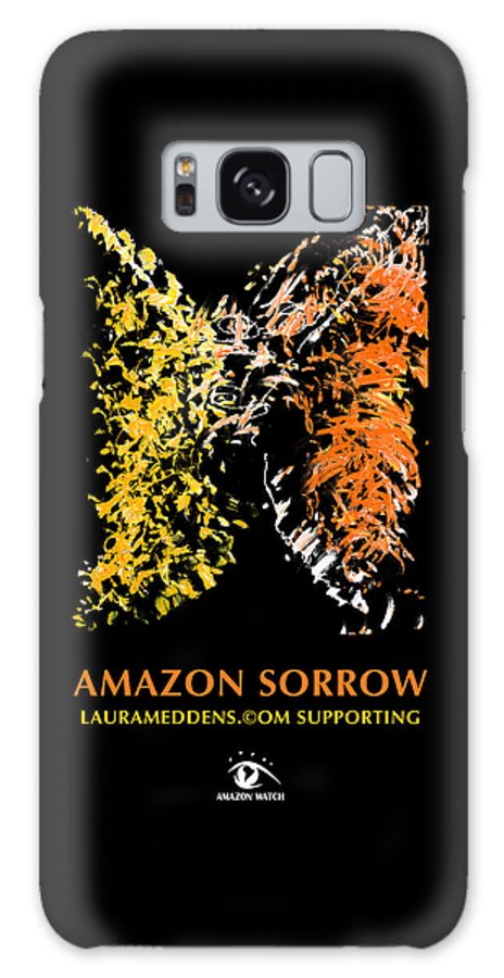 Amazon Galaxy Case featuring the painting Amazon Sorrow by Laura Meddens