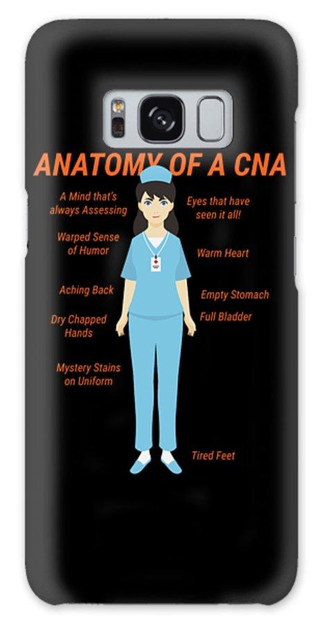 6ead77ef38098 Doctors Galaxy S8 Case featuring the digital art Anatomy Of Cna Nurse  Doctor Medical Health Check