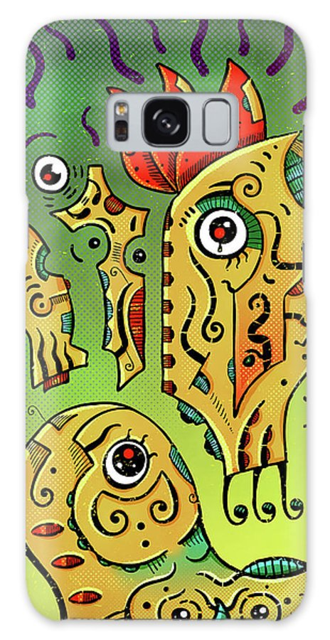 Totoro Galaxy S8 Case featuring the digital art Ancient Spirit by Sotuland Art