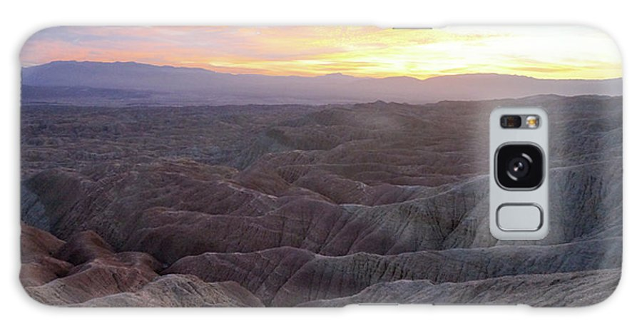 Anza Borrego Galaxy S8 Case featuring the photograph Anza Borrego Fonts Point Sunset 02 by Richard A Brown
