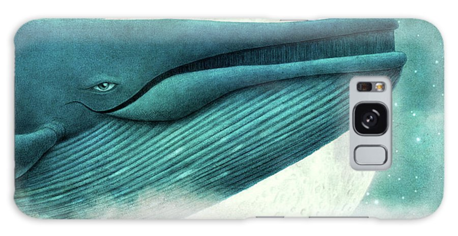 Whale Galaxy S8 Case featuring the drawing The Great Whale by Eric Fan