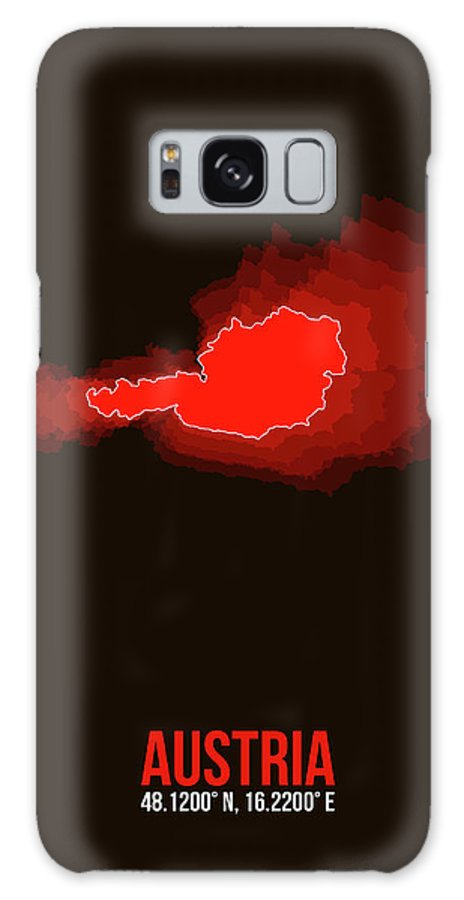 Map Of Austria Galaxy Case featuring the digital art Austria Radiant Map I by Naxart Studio