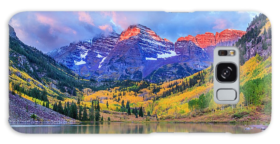 Scenics Galaxy Case featuring the photograph Autumn Colors At Maroon Bells And Lake by Dszc