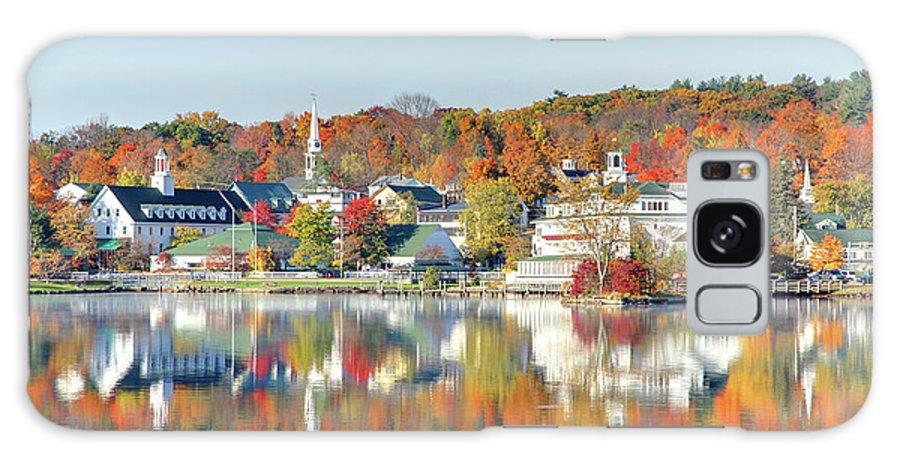 Scenics Galaxy Case featuring the photograph Autumn On Lake Winnipesaukee by Denistangneyjr