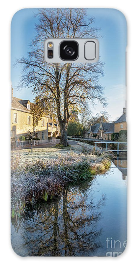 Lower Slaughter Galaxy S8 Case featuring the photograph Autumnal Morning Frost In Lower Slaughter by Tim Gainey