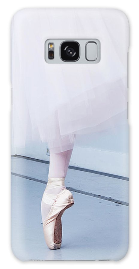 Expertise Galaxy Case featuring the photograph Ballerina On Pointe Low Angle View by Jonya
