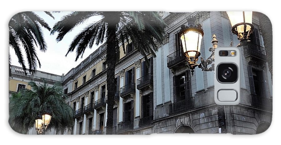 Outdoors Galaxy Case featuring the photograph Barcelona, Placa Reial by Stefano Salvetti