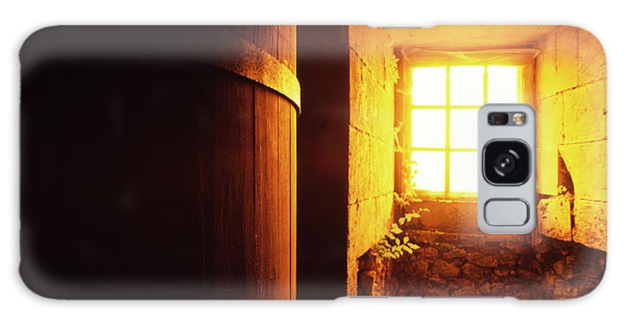 Alcohol Galaxy Case featuring the photograph Barrel At An Old Vine Cellar by Kontrast-fotodesign