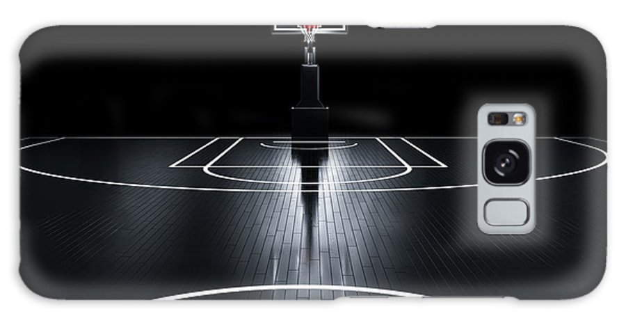 Venue Galaxy S8 Case featuring the digital art Basketball Court. Photorealistic 3d by Serg Klyosov