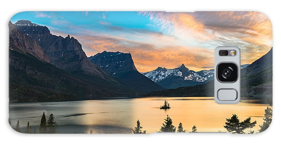 Forest Galaxy S8 Case featuring the photograph Beautiful Colorful Sunset Over St. Mary by Pung