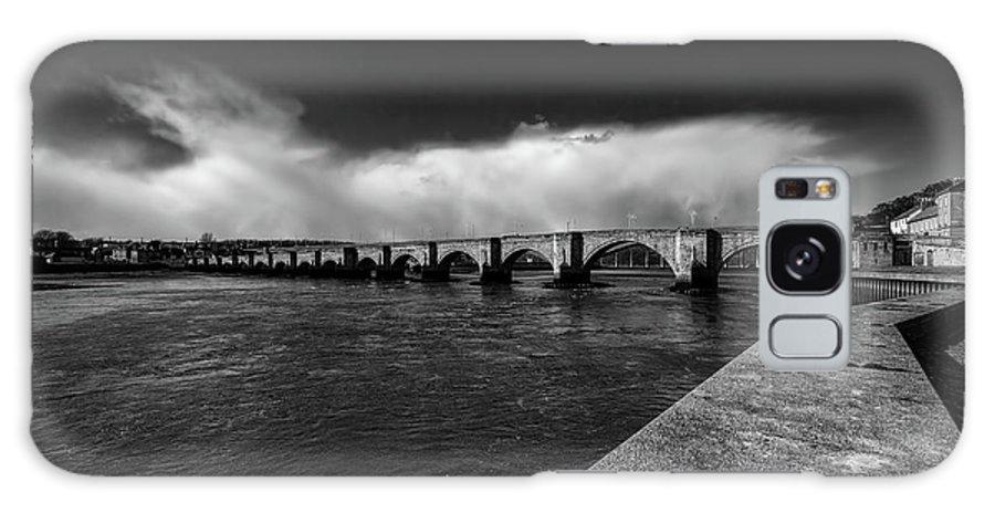 Berwick Bridge Galaxy S8 Case featuring the mixed media Berwick Bridge by Smart Aviation