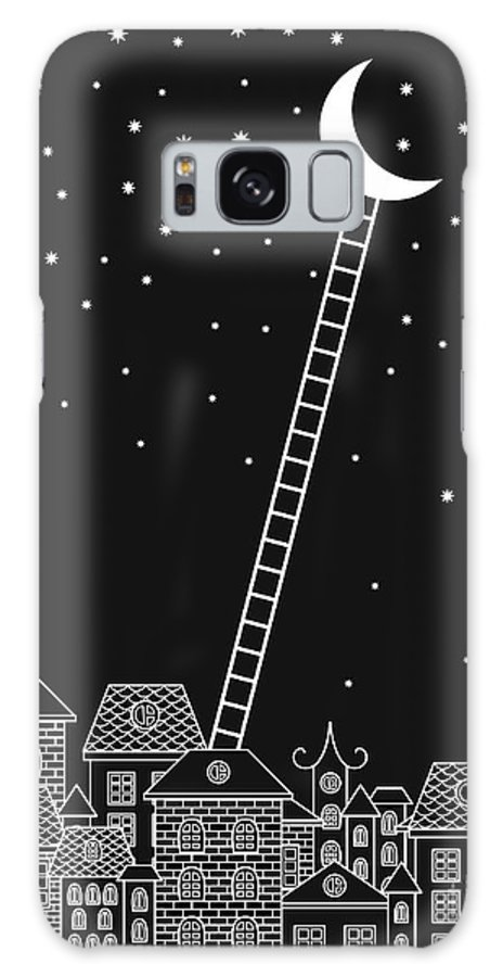 Stairs Galaxy S8 Case featuring the digital art Black And White To The Moon And Back by In dies magis