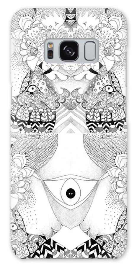 Blessed Be 3 By Helena Tiainen Galaxy S8 Case featuring the drawing Blessed Be 3 by Helena Tiainen