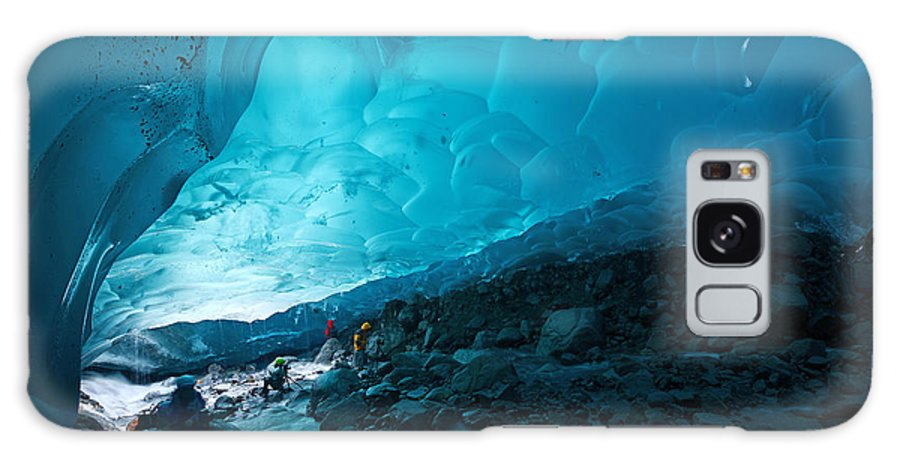 Cave Galaxy Case featuring the photograph Blue Glacier Ice Cave Near Juneau by Saraporn