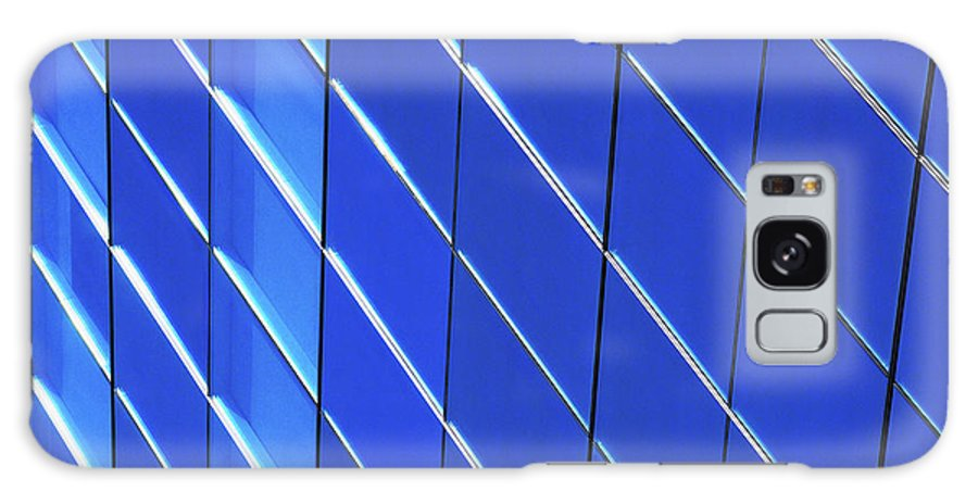 Outdoors Galaxy Case featuring the photograph Blue Glass Modern Building by Joelle Icard