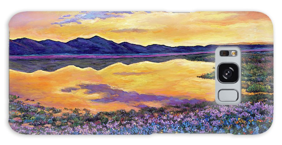 Southwestern Landscape Galaxy S8 Case featuring the painting Bluebonnet Rhapsody by Johnathan Harris