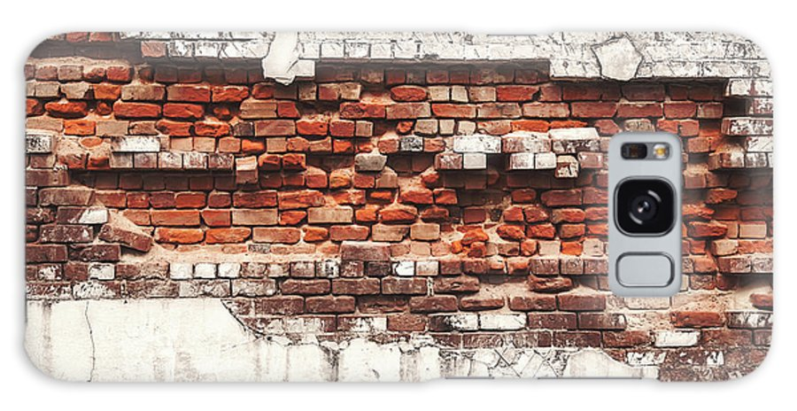 Tranquility Galaxy Case featuring the photograph Brick Wall Falling Apart by Ty Alexander Photography