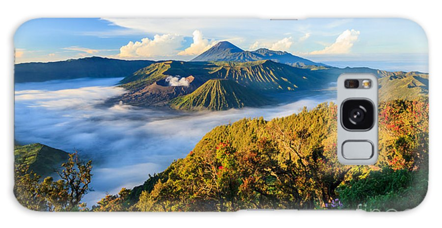 Cone Galaxy S8 Case featuring the photograph Bromo Volcano At Sunrise,tengger Semeru by Lkunl
