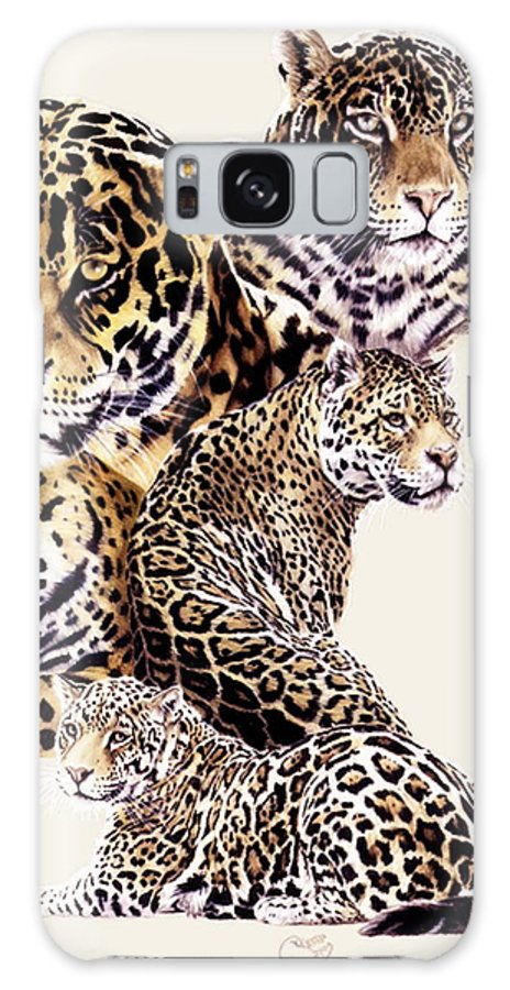 Jaguar Galaxy Case featuring the drawing Burn by Barbara Keith
