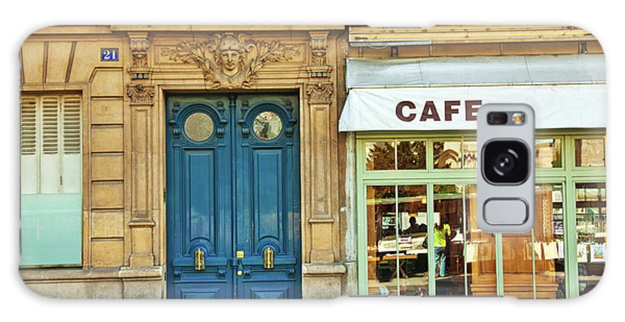 Diner Galaxy Case featuring the photograph Cafe In Paris by Nikada